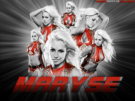 Maryse Red wallpaper