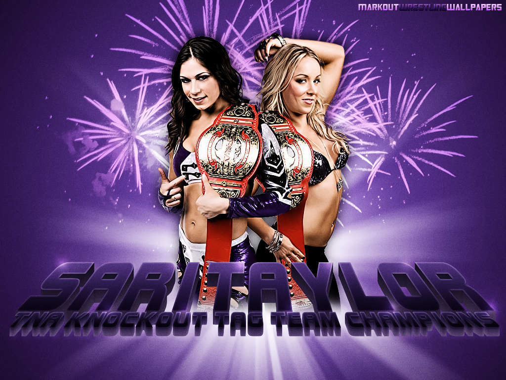 TNA: Sarita & Taylor Wilde Wallpaper | MarkoutWrestlingWallpapers